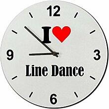 Glasuhr I Love Line Dance eine tolle Geschenkidee