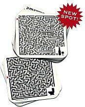 Glasuntersetzer Bierdeckel 30 Stück Labyrinth