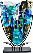 Glasvase Benjamin Art im Murano Stil Deko Vase