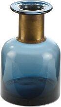 Glasvase Blue blau L. 12cm B. 12cm H. 18,5cm Goebel