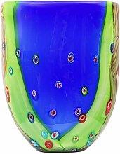 Glasvase Glas Vase im Murano Stil glass vase Antik