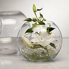 Glasvase GLOBE Glas Vase Tischvase Blumenvase