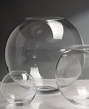 Glasvase Globe klar rund 34 cm Ø 40 cm von Sandra