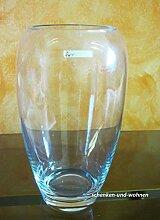 Glasvase klar ca. 25 x 11 cm (H/B) ohne Dekoration