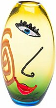 Glasvase Tischvase Gesicht Moderne Kunst im Murano