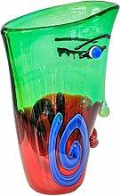 Glasvase Vase Gesicht Glas im Murano Antik Stil