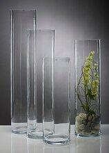 Glasvase Vase Glas Blumenvase Bodenvase Zylinder