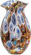 Glasvase Vase Glas Blumenvase im Murano Antik-Stil