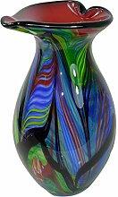Glasvase Vase Glas im Murano Stil Antik Stil 32cm