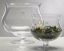 Glasvase XL Glas Vase Tischvase Blumenvase mit