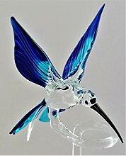 Orchideenstab Blumenstab Blumenhalter aus Glas Spitze hellgr/ün 3 x 41 cm handgeformt Lauschaer Glas das Original