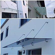 Glasvordach Zugstreben 90 und 120 cm Tiefe