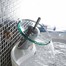 Glaswaschbecken Wasserhahn CU Vollglas