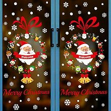 Glasweihnachtsdekorationen, Fensteraufkleber,