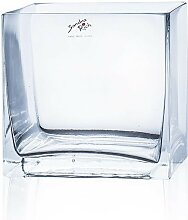 Glaswürfel Vase Dekoglas CUBE 14x14cm quadratisch