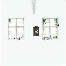 Glatte Fototapete Fenster 3 m x 3 m vtwonen