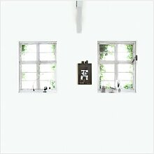 Glatte Fototapete Fenster 3 m x 3 m