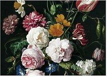 Glatte Fototapete Golden Age Flowers III 3,9 m x