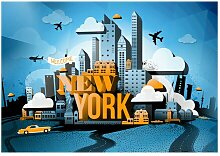 Glatte Fototapete New York - Welcome East Urban
