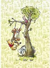 Glatte Fototapete Winnie Pooh In The Wood 2,8 m x