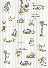 Glatte Fototapete Winnie Pooh - Stripes 2,8 m x