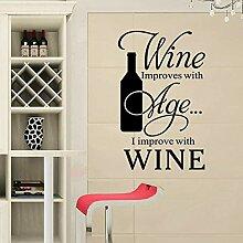 Gleecare Wandaufkleber,Cafe Restaurant Wine Küche