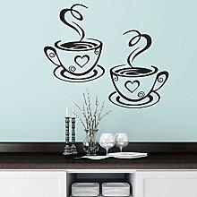 Gleecare Wandaufkleber Kaffee-Haferl Wohnzimmer