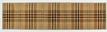 Glen Kilry -Teppich für das Wohnzimmer - Traditionell & Klassisch - Tartanmuster Beige 60x230