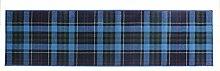 Glen Kilry -Teppich für das Wohnzimmer - Traditionell & Klassisch - Tartanmuster Blau 60x230
