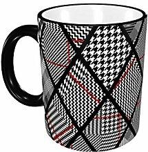 Glen Plaid-Kaffeetasse 11 Unzen Keramik-Becher