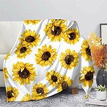 GLENLCWE Sonnenblumen-Überwurf für Bett, Sofa,