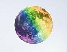 GLF Licht-emittierende Kinder-Aufkleber Aufkleber Leuchtende Dose Entfernen Wand-Aufkleber Mond-Durchmesser,C