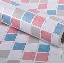 GLF Mosaik Tapete Selbstklebende Tapete Küche Badezimmer Badezimmer Wasserdichte Aufkleber Fliesen Toiletten Wandaufkleber,3