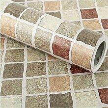 GLF Mosaik Tapete Selbstklebende Tapete Küche Badezimmer Badezimmer Wasserdichte Aufkleber Fliesen Toiletten Wandaufkleber,1