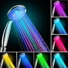 GLHLPR LED Duschkopf mit Farbwechsel LED