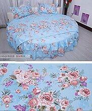GLIANG Bettwäsche-Sets, Rundes Bett Bettrock, vier Sets, Tagesdecken, europäische Bettwäsche, 4er-se