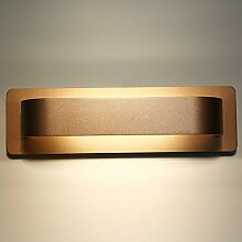 Glighone 12W LED Wandleuchte Innen Gold Modern