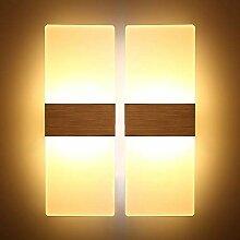 Glighone 2 x 12W LED Wandleuchte Wandlampe Innen