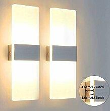 Glighone 2x 12W LED Wandlampe Wandleuchte Innen