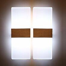 Glighone 2x 12W LED Wandleuchte Wandlampe Innen