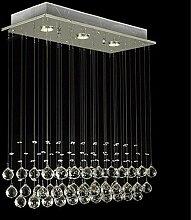 Glighone LED Deckenleuchte Kristall Hängend