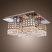 Glighone LED Kristall Deckenleuchte Modern