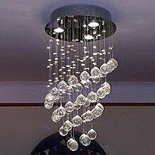 Glighone LED Kristall Deckenleuchte Pendelleuchte