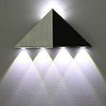 Glighone Moderne LED Wandleuchte Hohe Leistung 5W Up Down Wandleuchte Spot Light Sconce Beleuchtung Dekoration für Korridor Schlafzimmer Hotel, Kaltes Weiß