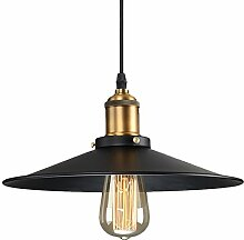 Glighone Pendelleuchte Vintage Lampenschirm Retro