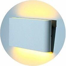 Glighone Wandleuchte Weiß Aussen Innen LED