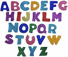 Glitter Buchstaben Schaumstoff Aufkleber Sticker