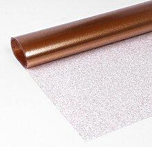 Glitter Folie Gold, Transparente Glitzer TISCHDECKE, LFGB geprüft, Meterware, 300x140 cm, Länge wählbar, Beautex