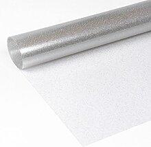 Glitter Folie Silber, Transparente Glitzer TISCHDECKE, LFGB geprüft, Meterware, 170x140 cm, Länge wählbar, Beautex