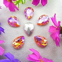 Glitter Glas Kristall 7 Größen klar AB &